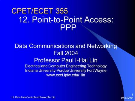 12. Point-to-Point Access: PPP