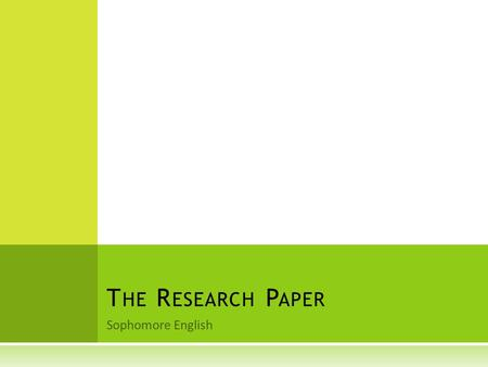 culminating research paper