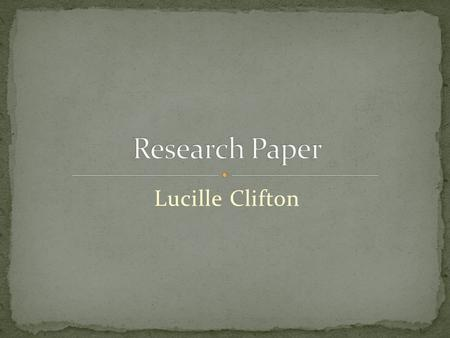 Lucille Clifton. Investigation Study Exploration Inquiry Enquiry precise investigation into a subject in order to discover facts, to establish or revise.
