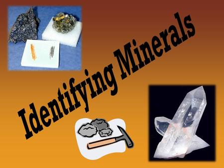 Minerals Mineral- A naturally occurring, inorganic solid that has a definite chemical composition and crystal structure All minerals must: Occur naturally.