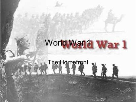 World War 1 The Homefront. Do you remember? How WW 1 started? The archduke of Austria was shot by a Serbian nationalist. Who sunk the Lusitania? German.