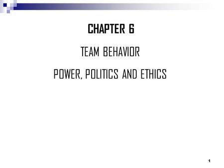 power influence and politics Critically discuss and identify the influence power, politics and control have on the management of performance first of all discuss the the.
