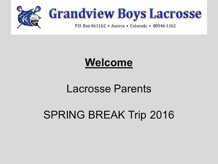 Welcome Lacrosse Parents SPRING BREAK Trip 2016. 3d Lacrosse offers the BEST Spring Training Camp in Florida St. Pete's Beach March 27- April 1st.