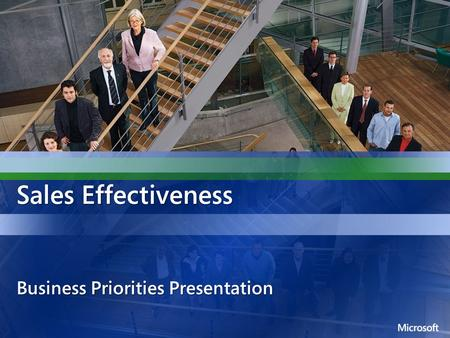 Sales Effectiveness Business Priorities Presentation.