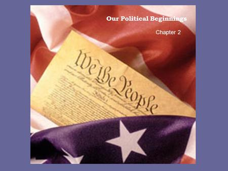 Our Political Beginnings Chapter 2. The Colonists brought with them to North America knowledge of the English political system, including three key ideas.