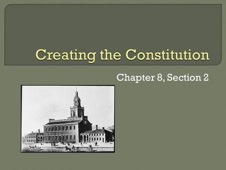 Chapter 8, Section 2.  In September 1786, delegates from five states met in Annapolis, Maryland to discuss ways of amending the Articles of Confederation.
