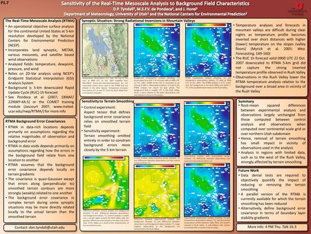 P1.7 The Real-Time Mesoscale Analysis (RTMA) An operational objective surface analysis for the continental United States at 5-km resolution developed by.