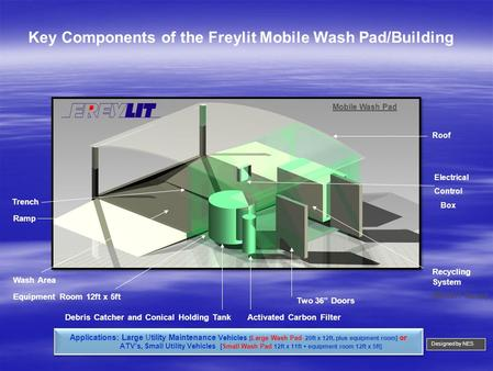 Key Components of the Freylit Mobile Wash Pad/Building