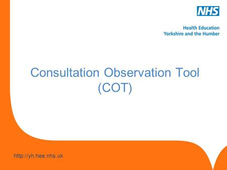 Consultation Observation Tool (COT)
