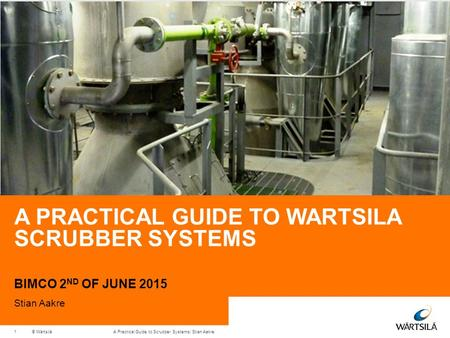 A Practical guide to wartsila scrubber systems