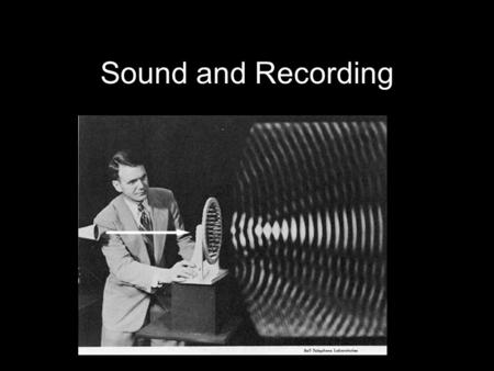 Sound and Recording. Overview Soundtracks Sound Basics Recording Dialogue Effects Music Mixing.