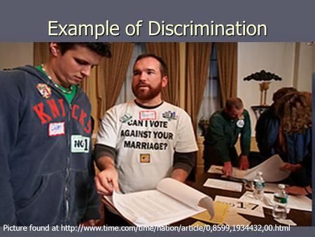 Example of Discrimination Picture found at