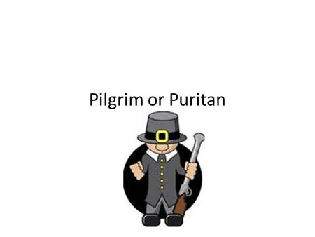 Pilgrim or Puritan. Pilgrims vs Puritans Pilgrims Were separatists Extreme Puritans Wanted to separate from the church Puritans Non Separatists Purify.