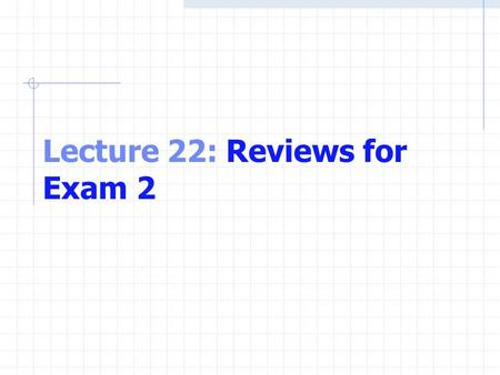 Lecture 22: Reviews for Exam 2. Functions Arrays Pointers Strings C Files.