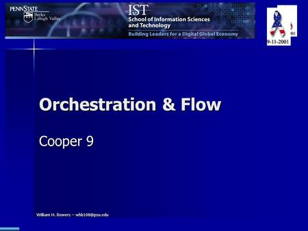 William H. Bowers – Orchestration & Flow Cooper 9.