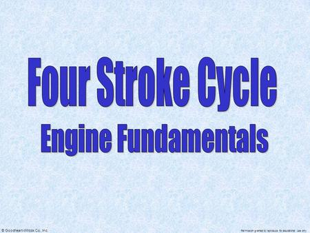 Four Stroke Cycle Engine Fundamentals.