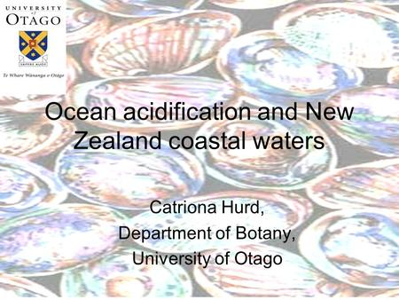Ocean acidification and New Zealand coastal waters