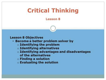 introduction to critical thinking powerpoint Introduction to critical thinking gxex1406 thinking and communication skills what is critical thinking cognitive skills and intellectual.