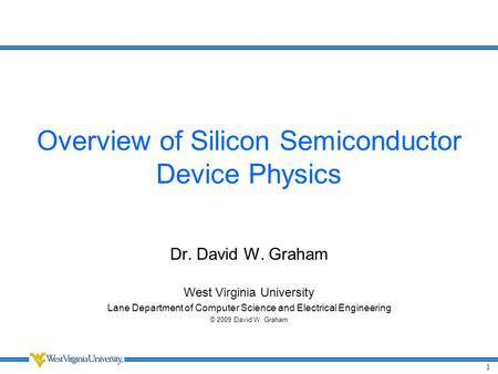 Overview of Silicon Semiconductor Device Physics