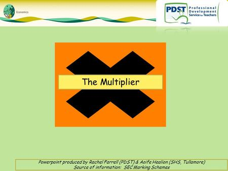 The Multiplier Powerpoint produced by Rachel Farrell (PDST) & Aoife Healion (SHS, Tullamore) Source of information: SEC Marking Schemes.