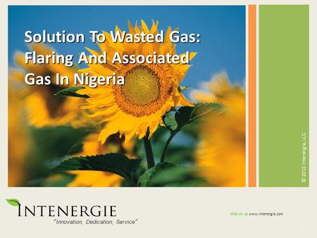 Solution To Wasted Gas: Flaring And Associated Gas In Nigeria