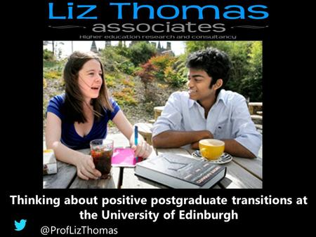 Thinking about positive postgraduate transitions at the University of