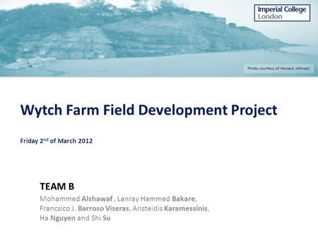 Wytch Farm Field Development Project