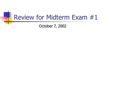 review for midterm i