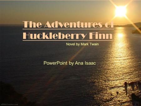 an analogy of racism in the adventures of huckleberry finn by mark twain It is told in the first person by huckleberry huck finn, best friend of tom sawyer and narrator of two other twain novels the book is noted for its colorful description of people and places.