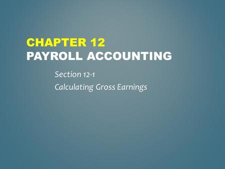 chapter paroll homework Payroll deduction calculator will quickly calculate deductions for you click to see what payroll deductions changes will do to your next paycheck for free.