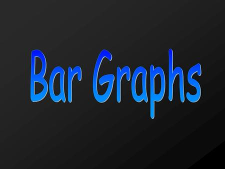Bar Graph- a graph that displays data using bars of different heights or lengths.