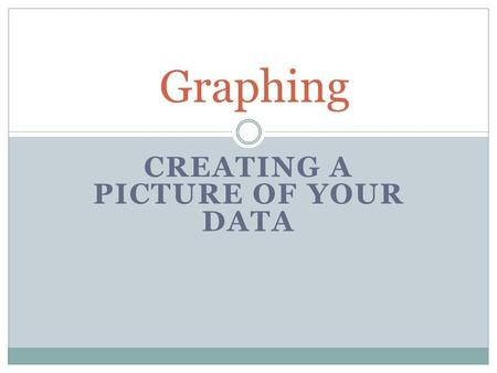 CREATING A PICTURE OF YOUR DATA Graphing. A graph is… a picture of your data. Make sure it is a clear picture that helps your reader understand your data.