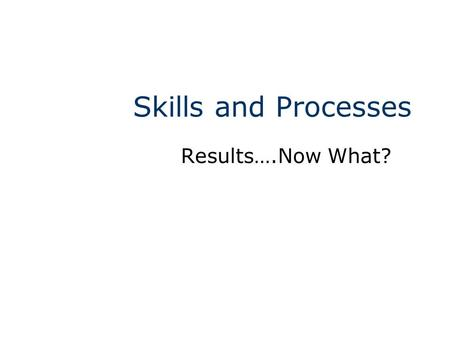 Skills and Processes Results….Now What?. Maryland Science Content Standard Students will be able to give reasons for the importance of waiting until an.