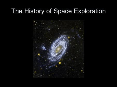 The History of Space Exploration. The first living things in space were fruit flies. In 1946, they were sent to high altitude to study the effects of.
