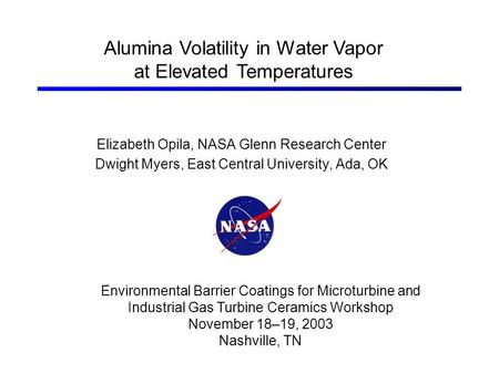 Alumina Volatility in Water Vapor at Elevated Temperatures