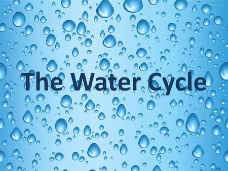 The Water Cycle. Facts About Water Water is the most important material on earth. Water continuously changes forms so it can be used and recycled. Matter.
