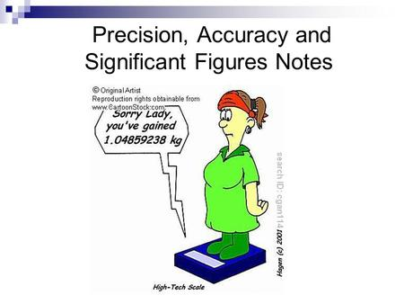 Precision, Accuracy and Significant Figures Notes.