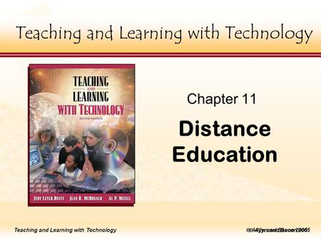 Teaching and Learning with Technology lick to edit Master title style  Allyn and Bacon 2002 Teaching and Learning with Technology lick to edit Master.