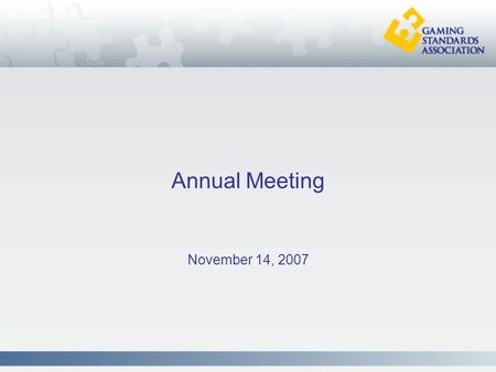 Annual Meeting November 14, 2007. Platinum Members.