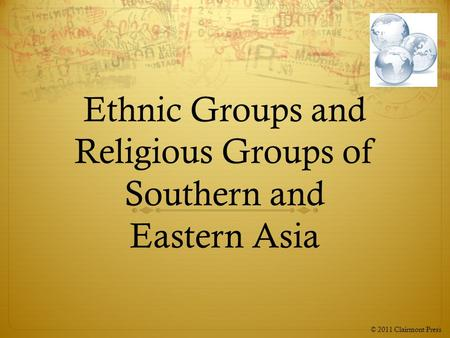 Ethnic Groups and Religious Groups of Southern and Eastern Asia
