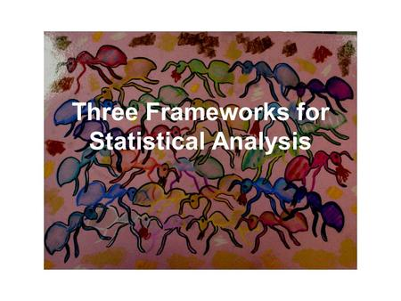 Three Frameworks for Statistical Analysis. Sample Design Forest, N=6 Field, N=4 Count ant nests per quadrat.