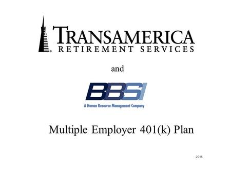 Multiple Employer 401(k) Plan