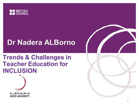 Dr Nadera ALBorno Trends & Challenges in Teacher Education for INCLUSION 11111www.britishcouncil.ae.