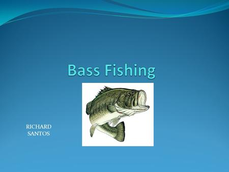 RICHARD SANTOS. Why Bass Fishing? Number 1 fresh water fishing sport 5 Billion dollar industry Anyone can participate.