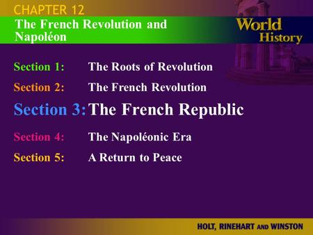 Section 3: The French Republic