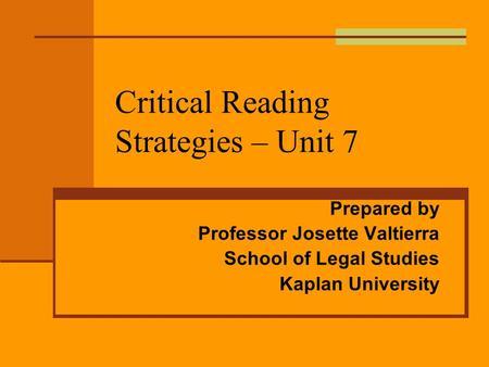 critical reading skills and strategies pdf