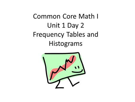 Common Core Math I Unit 1 Day 2 Frequency Tables and Histograms