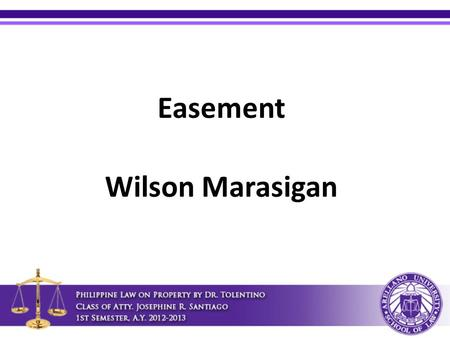 Easement Wilson Marasigan. Distance of trees Article 679. No trees shall be planted near a tenement or piece of land belonging to another except at the.
