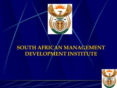 SOUTH AFRICAN MANAGEMENT DEVELOPMENT INSTITUTE. PRESENTATION TO THE PORTFOLIO COMMITTEE: SAMDI ANNUAL REPORT 2001/2002.