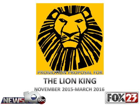 "NEWS10ABC and WXXA Fox 23 are ready for the return of ""THE LION KING"" To PROCTORS in March, 2016! WTEN ABC and WXXA Fox 23 have planned multiple promotions."